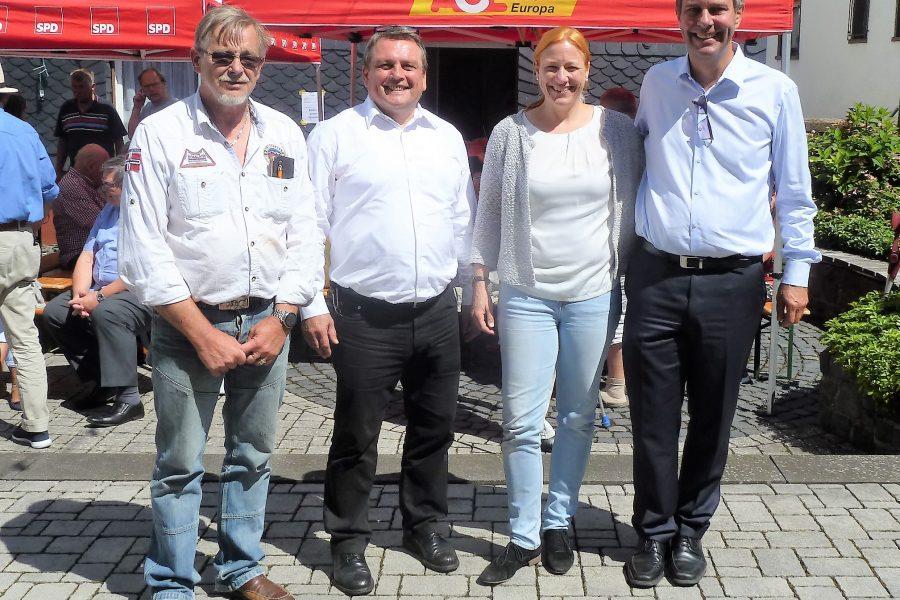 Michael Borke, Sagmar Schmidt, Armin Schild und Gerd Wegel (von Links)
