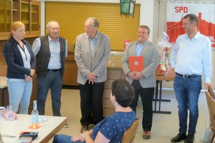 Dagmar Schmidt, Karl-Ernst Schaub, Bruno Müller, Armin Schild und Michael Borke (von links)